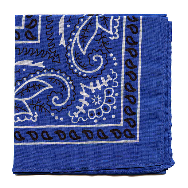 High Resolution Blue Bandana Fabric stock photo