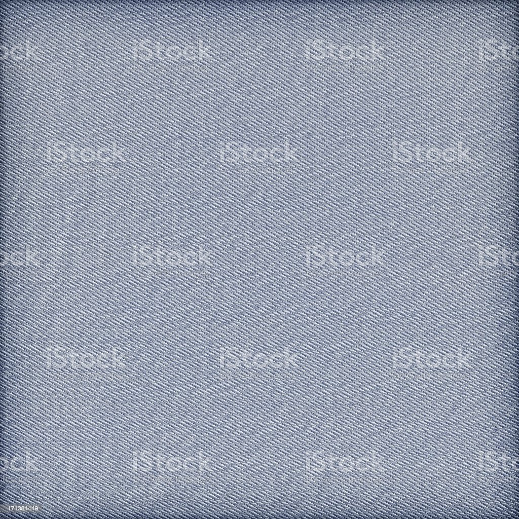 High Resolution Blue Denim Crumpled Vignette Texture Sample stock photo
