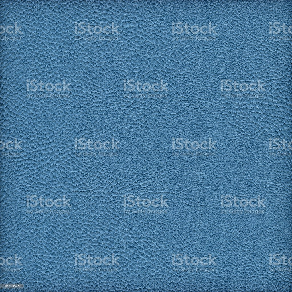 High Resolution Blue Pleather Crumpled Vignette Grunge Texture stock photo