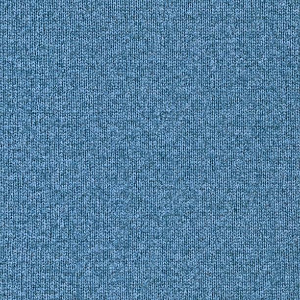 High Resolution Blue Woolen Woven Fabric Texture Sample stock photo