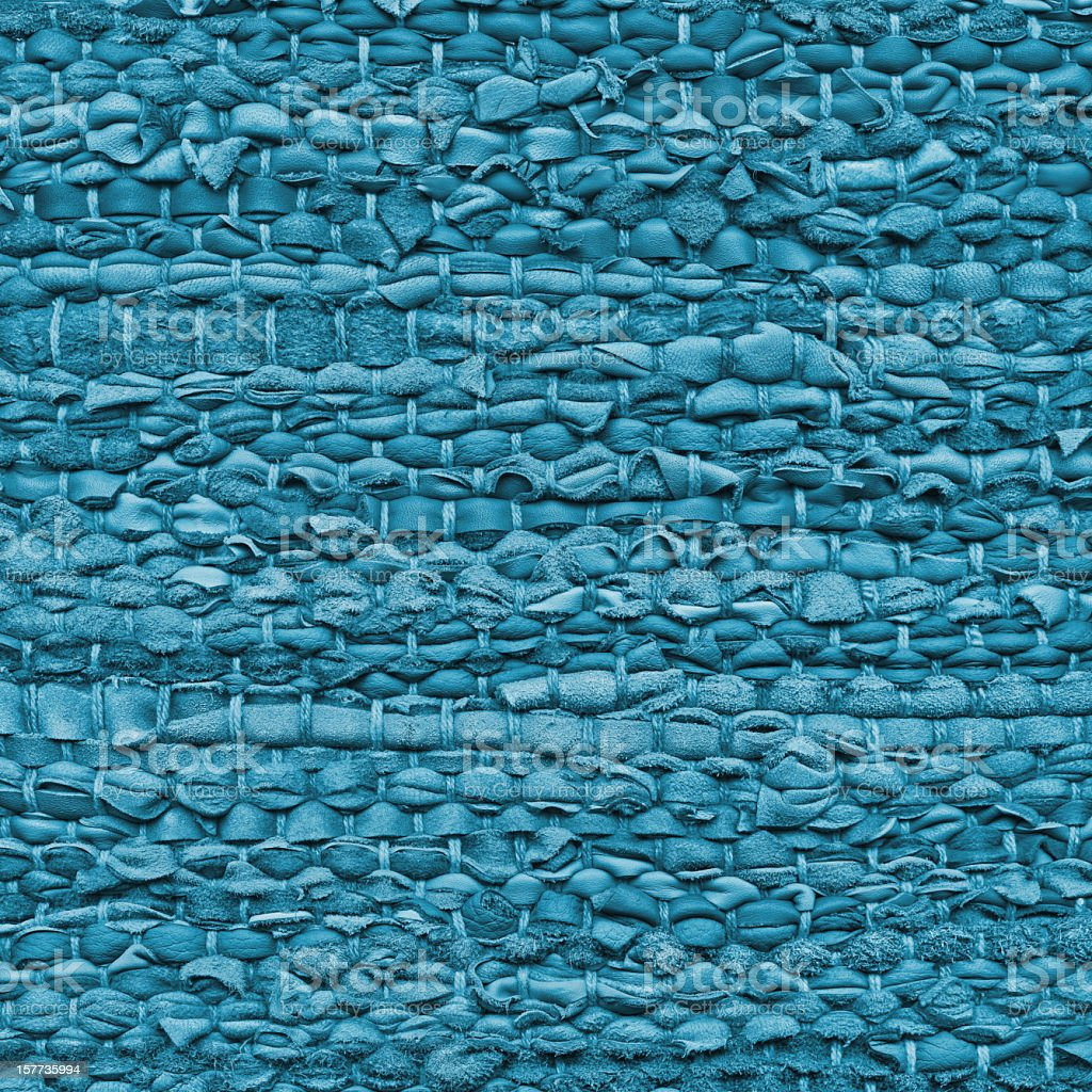 High Resolution Blue Woven Leather Mat Rough Grunge Texture stock photo