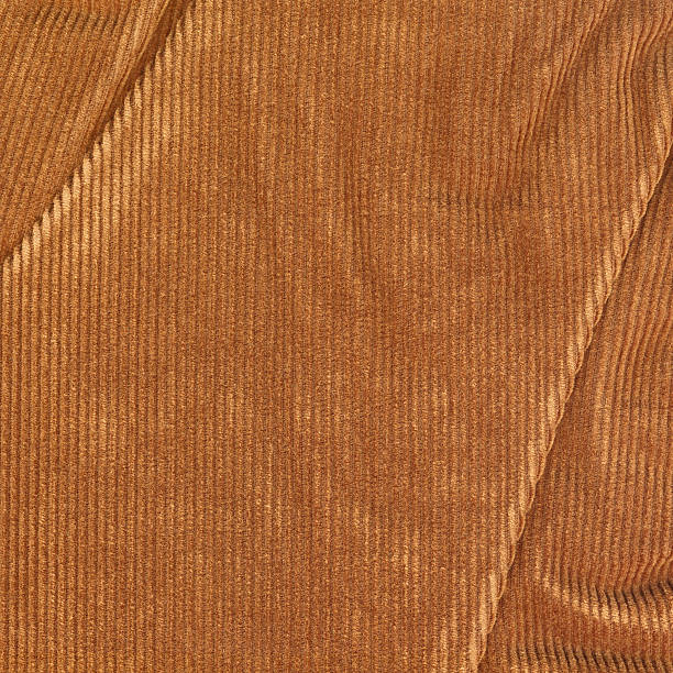 high resolution brown corduroy wrinkled texture sample - corduroy stock pictures, royalty-free photos & images