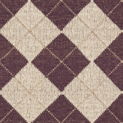 High Resolution Brown Knitted Fabric Argyle Seamless ...