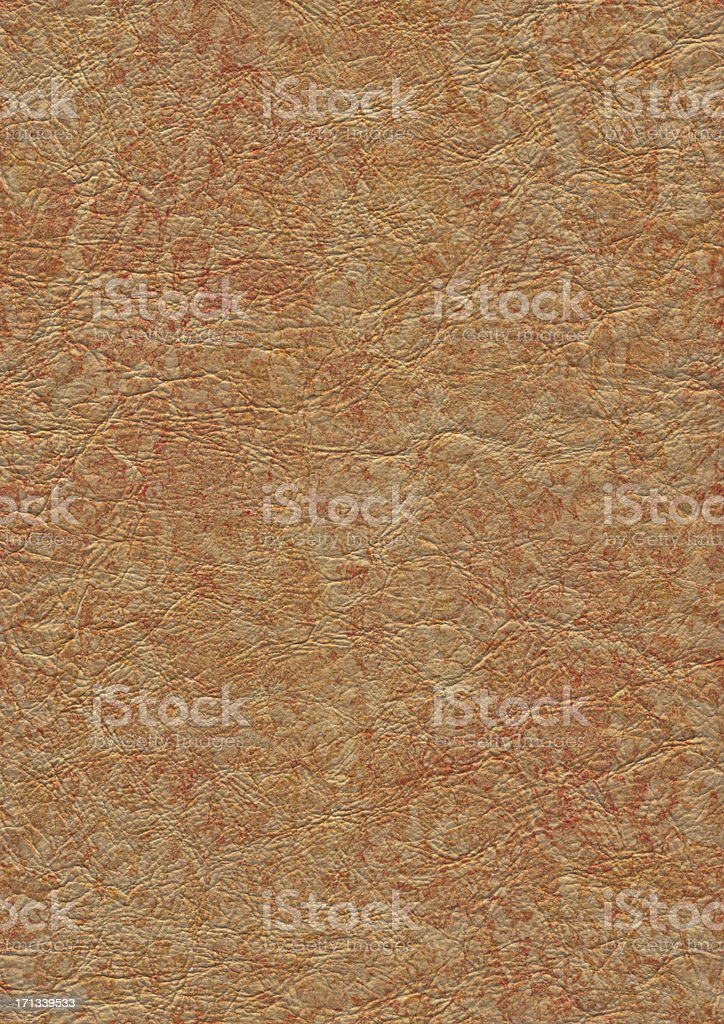 High Resolution Brown Pleather Crumpled Mottled Grunge Texture stock photo