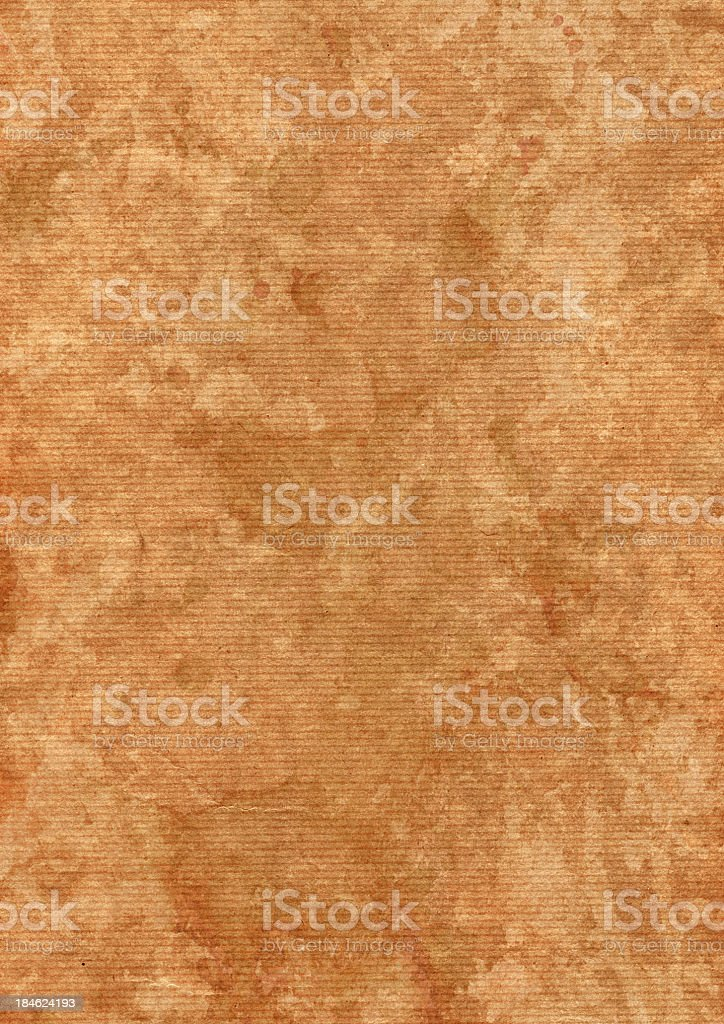 High Resolution Brown Striped Kraft Paper Dappled Grunge Texture royalty-free stock photo