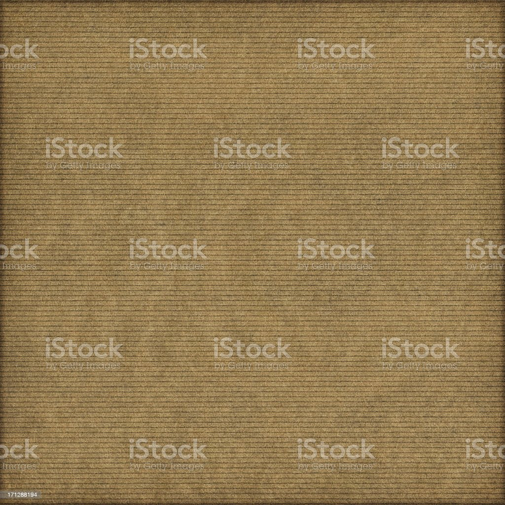High Resolution Brown Striped Kraft Paper Vignette Grunge Texture royalty-free stock photo