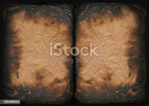 This Extra Large, A-3 Size, High Resolution Scan of Badly Burnt Antique Book Paper Blank Pages, Carbonized, Stained, Vignette Grunge Texture, is excellent choice for implementation in various CG design projects.
