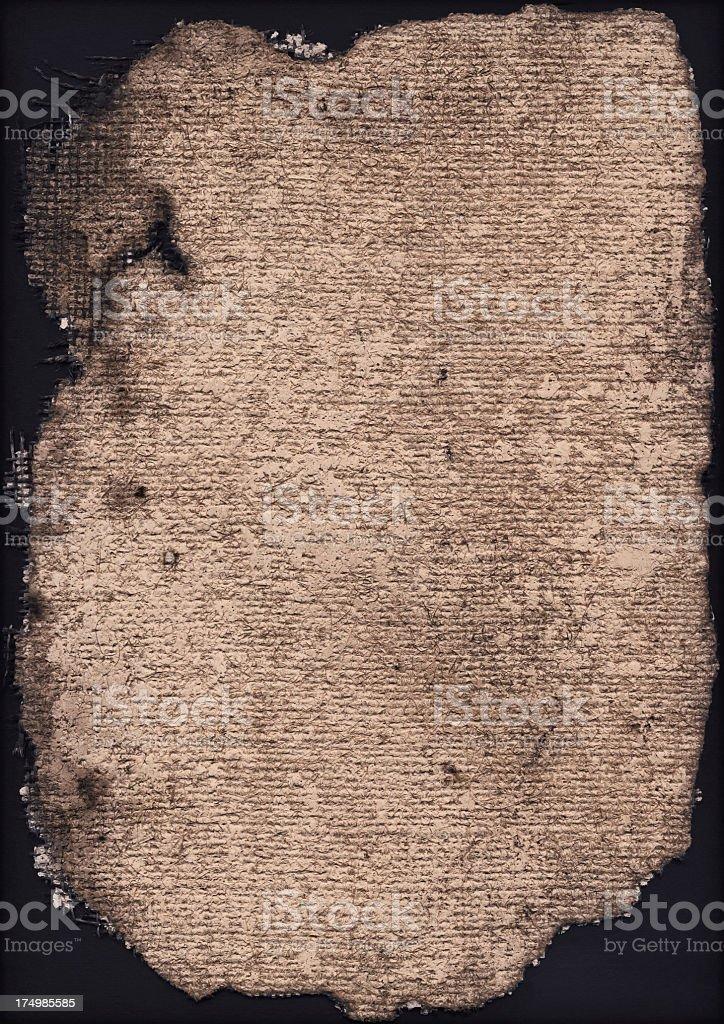 High Resolution Burnt Primed Burlap Canvas Vignette Grunge Texture royalty-free stock photo