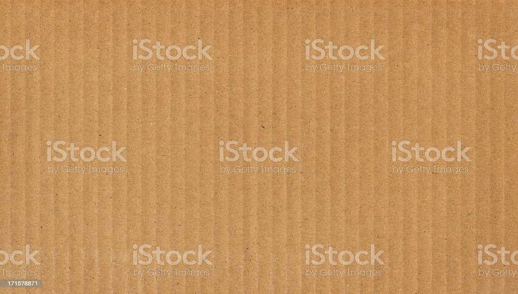 High Resolution Cardboard Brown Corrugated Texture royalty-free stock photo