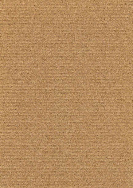 High Resolution Corrugated Cardboard Grunge Texture stock photo
