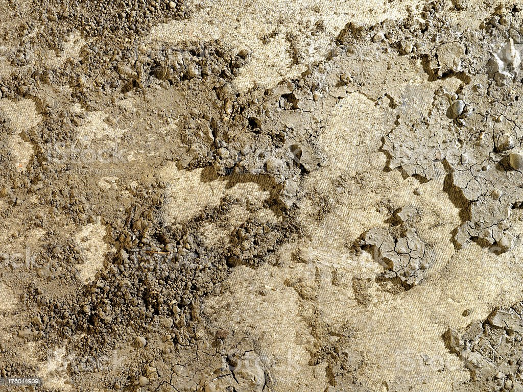 High Resolution Crumbled Dirt Background stock photo
