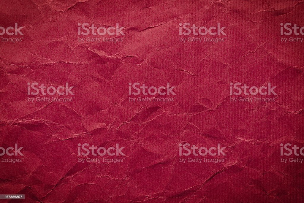 High resolution crumpled red paper stock photo