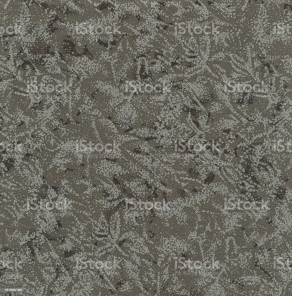 High Resolution Dark Grey Pewter Fabric with Floral Pattern Background stock photo