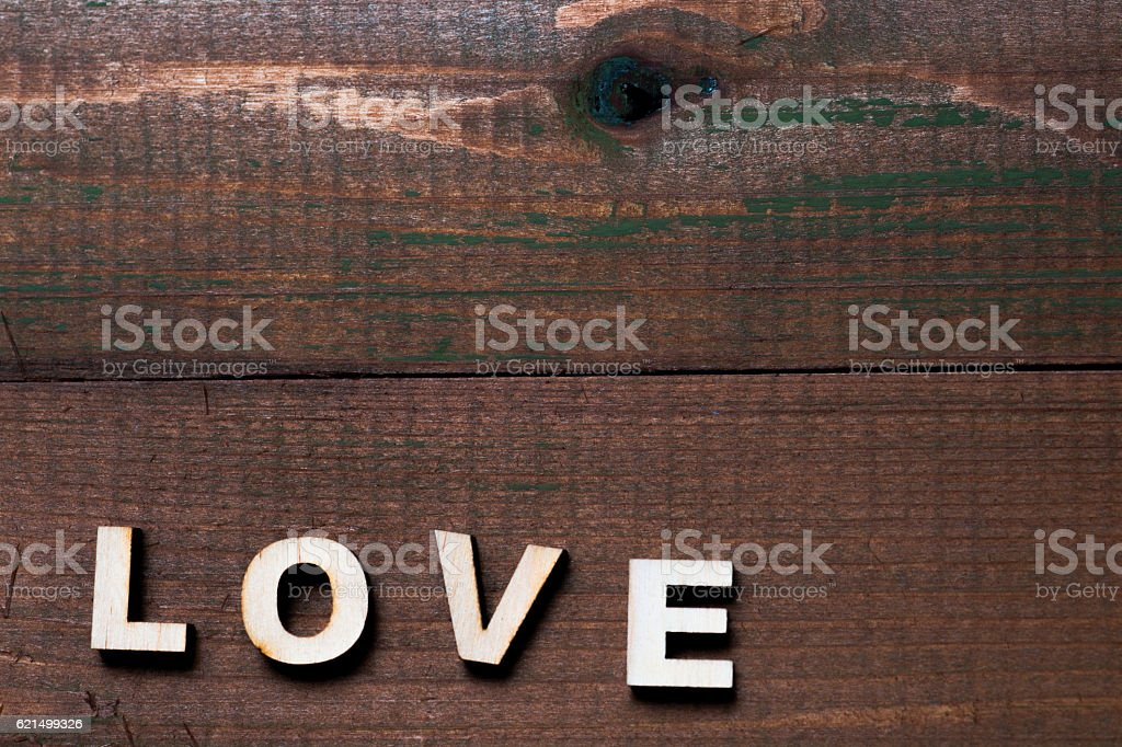 high resolution dark village wood backgrounds. The word love. photo libre de droits