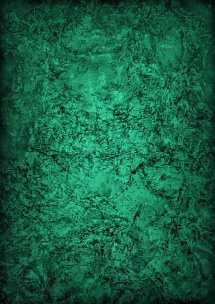 High Resolution Deep Emerald Green Cork Tile Vignette Grunge Texture stock photo
