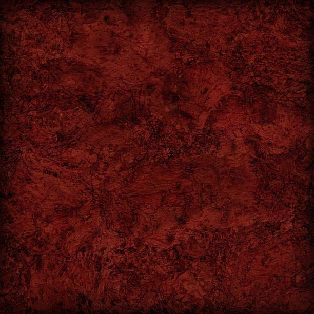 High Resolution Deep Garnet Red Cork Tile Vignette Grunge Texture stock photo