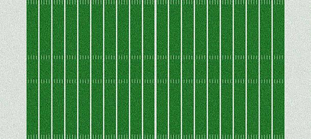 High resolution digital American football field graphic stock photo