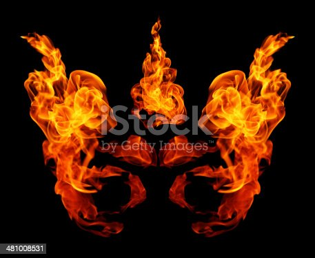 istock High resolution fire collection isolated on black background 481008531