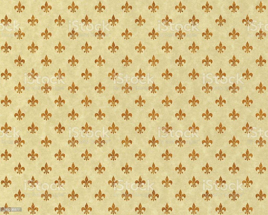 High resolution fleur de lis on beige paper stock photo