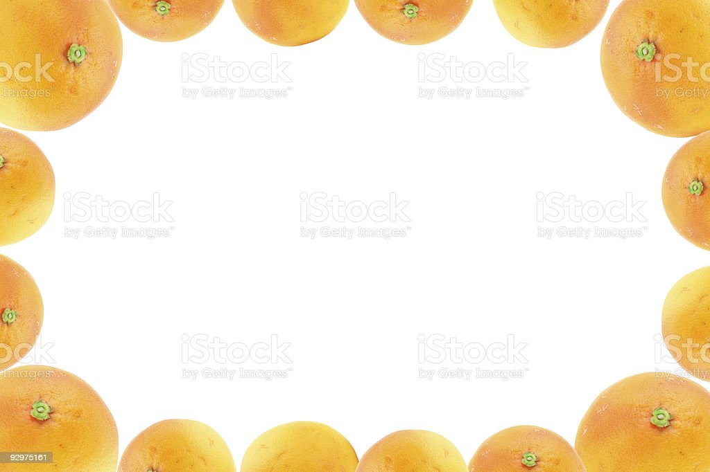 high resolution frame decorated with orange fruits royalty-free stock photo