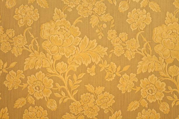 Hohe Auflösung Gold Hintergrund mit Blumenmuster – Foto