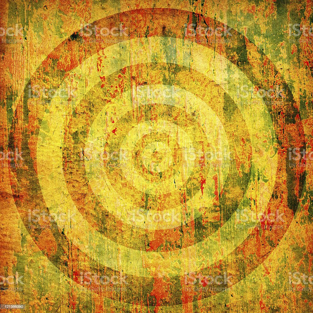 High Resolution Grunge Texture with Concentric Circles royalty-free stock photo