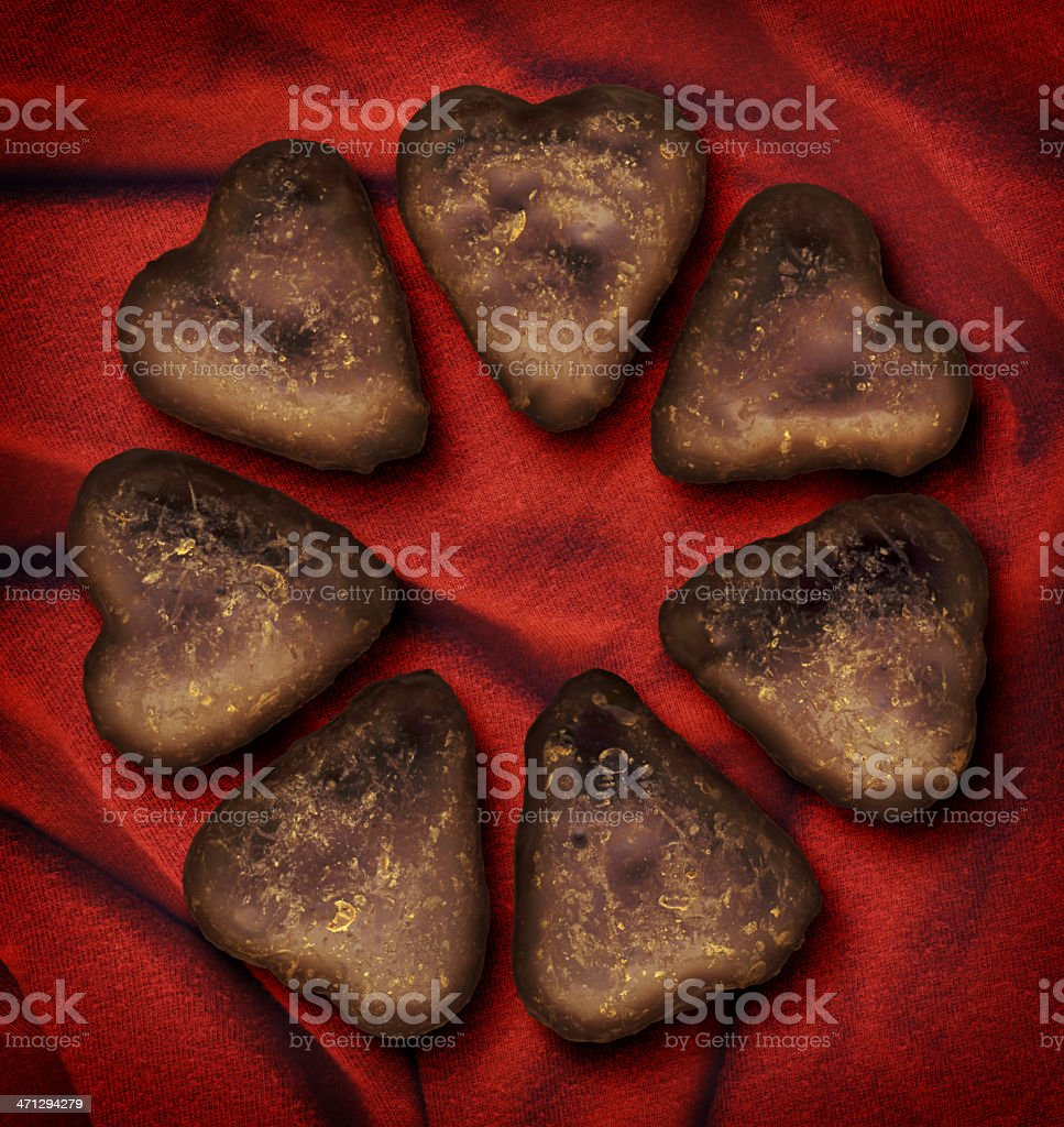 High Resolution Isolated Chocolate Heart-shaped Cookies royalty-free stock photo
