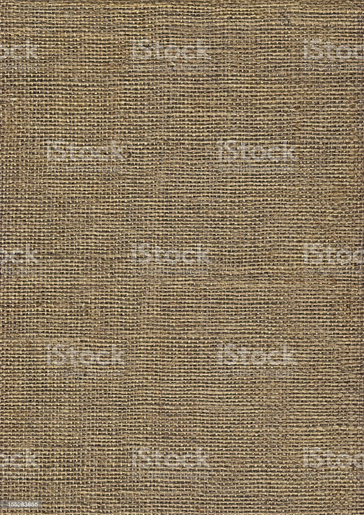 High Resolution Jute Canvas Coarse Grain Grunge Texture royalty-free stock photo