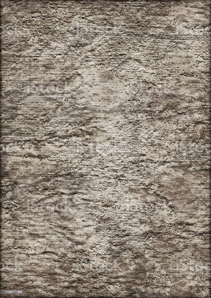 High Resolution Jute Primed Canvas Crumpled Mottled Vignette Grunge Texture royalty-free stock photo