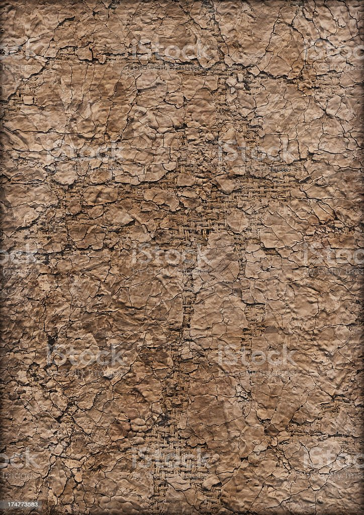 High Resolution Jute Primed Coarse Grain Canvas Crushed Grunge Texture royalty-free stock photo