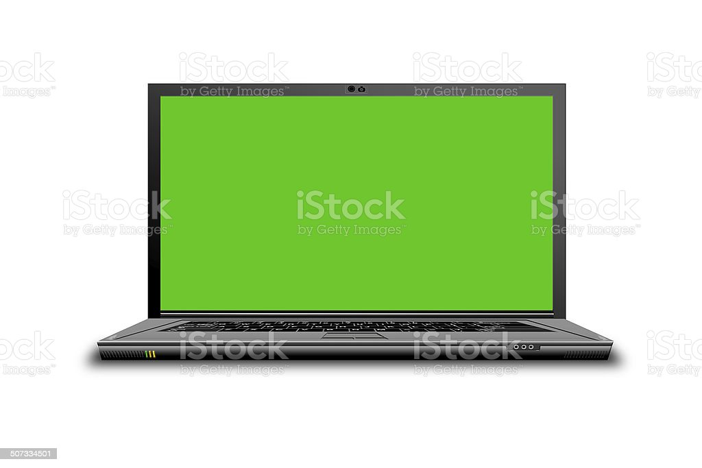 High Resolution Laptop stock photo