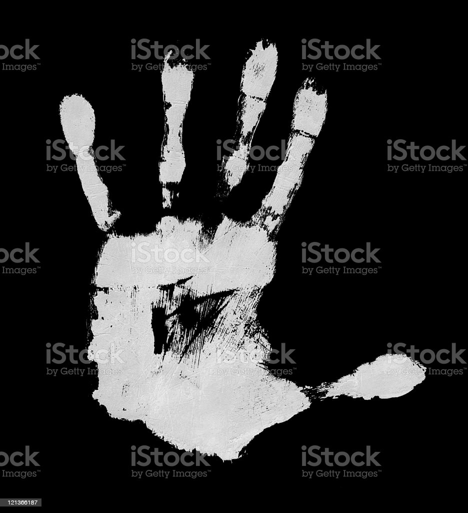 High Resolution Left Hand Scan royalty-free stock photo