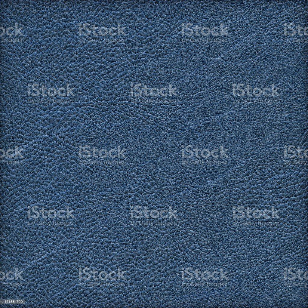 High Resolution Marine Blue Naugahyde Crumpled Grunge Texture stock photo