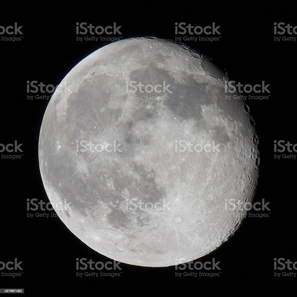 High Resolution Moon Image royalty-free stock photo