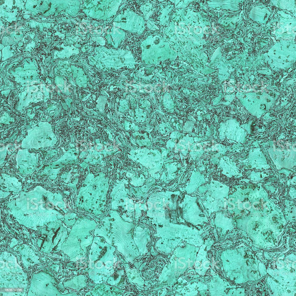 The Texture Of Teal And Turquoise: High Resolution Natural Cork Seamless Turquoise Texture