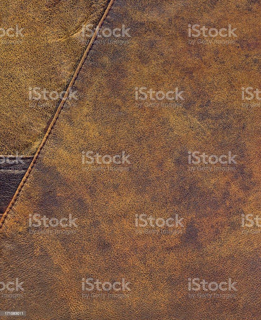 High Resolution Old Brown Sheepskin Patchwork Grunge Texture royalty-free stock photo
