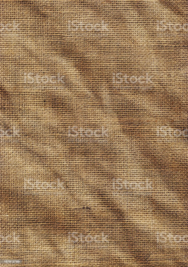 High Resolution Old Jute Coarse Grain Wrinkled Canvas Texture royalty-free stock photo