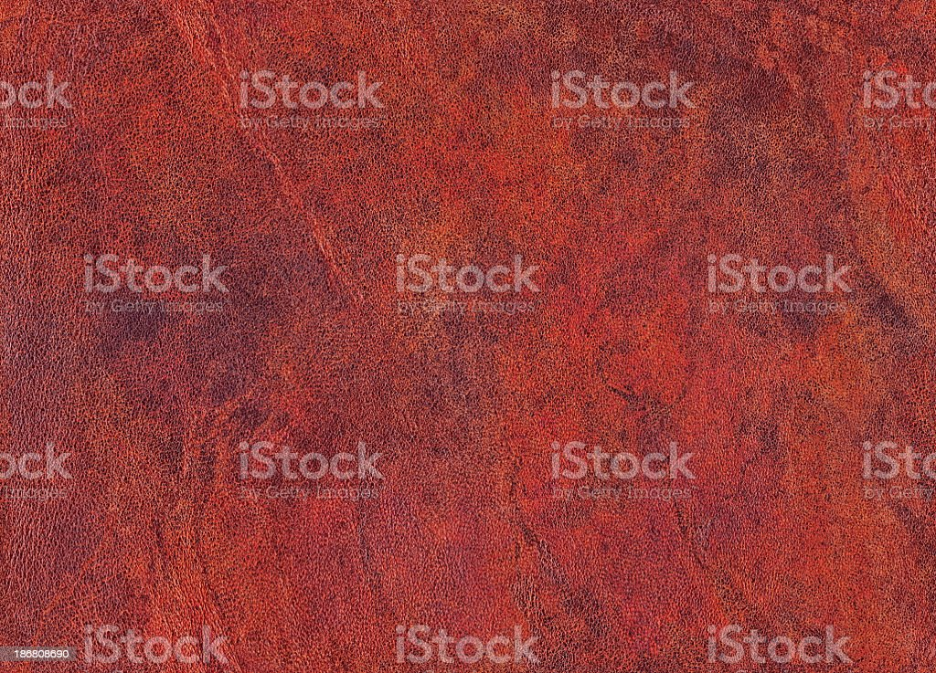 High Resolution Old Maroon Red Sheepskin Seamless Grunge Texture stock photo