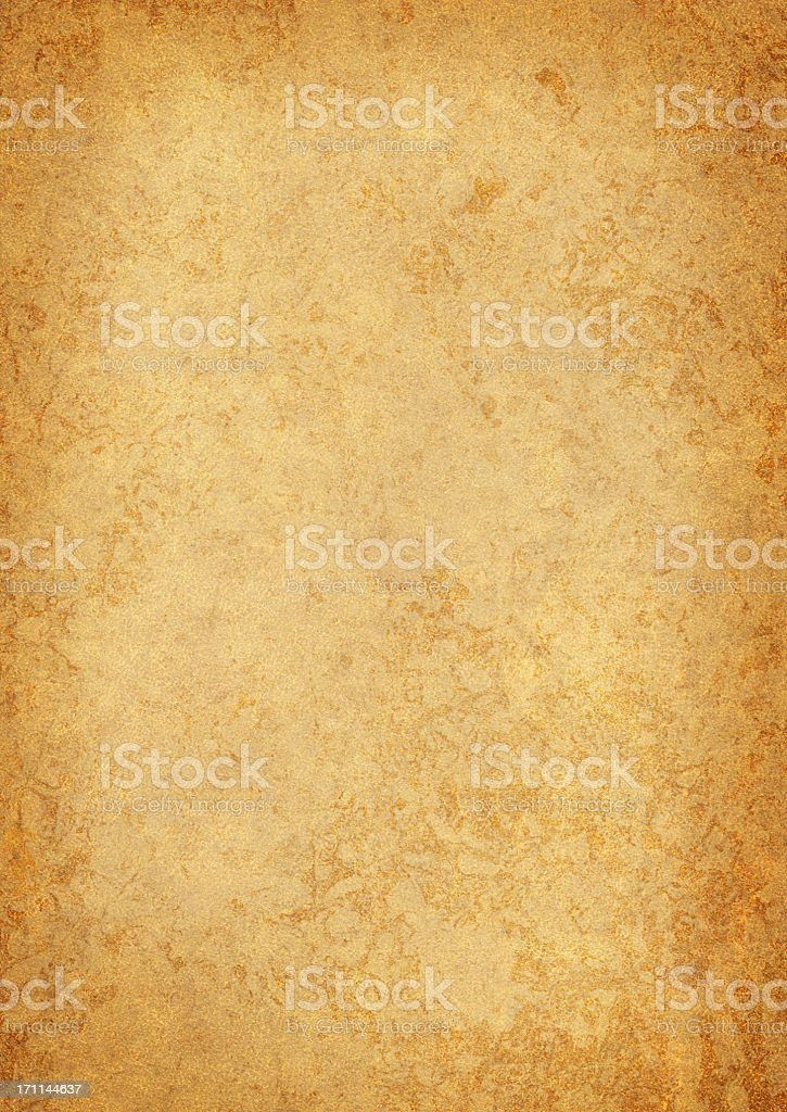 High Resolution Old Parchment (Vellum) Vignetted Grunge Texture stock photo