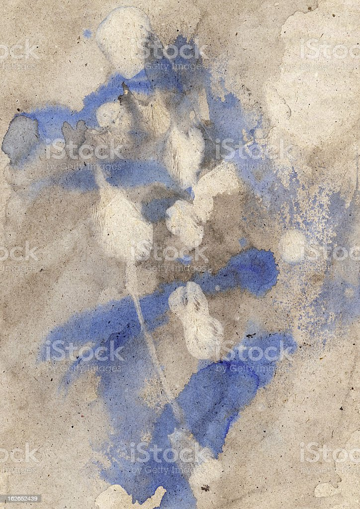 High Resolution Old Recycle Kraft Paper Mottled Crumpled Grunge Texture royalty-free stock photo