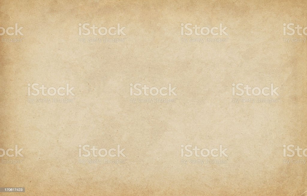 High Resolution Old Sandy Brown Watercolor Paper Vignetted Texture stock photo