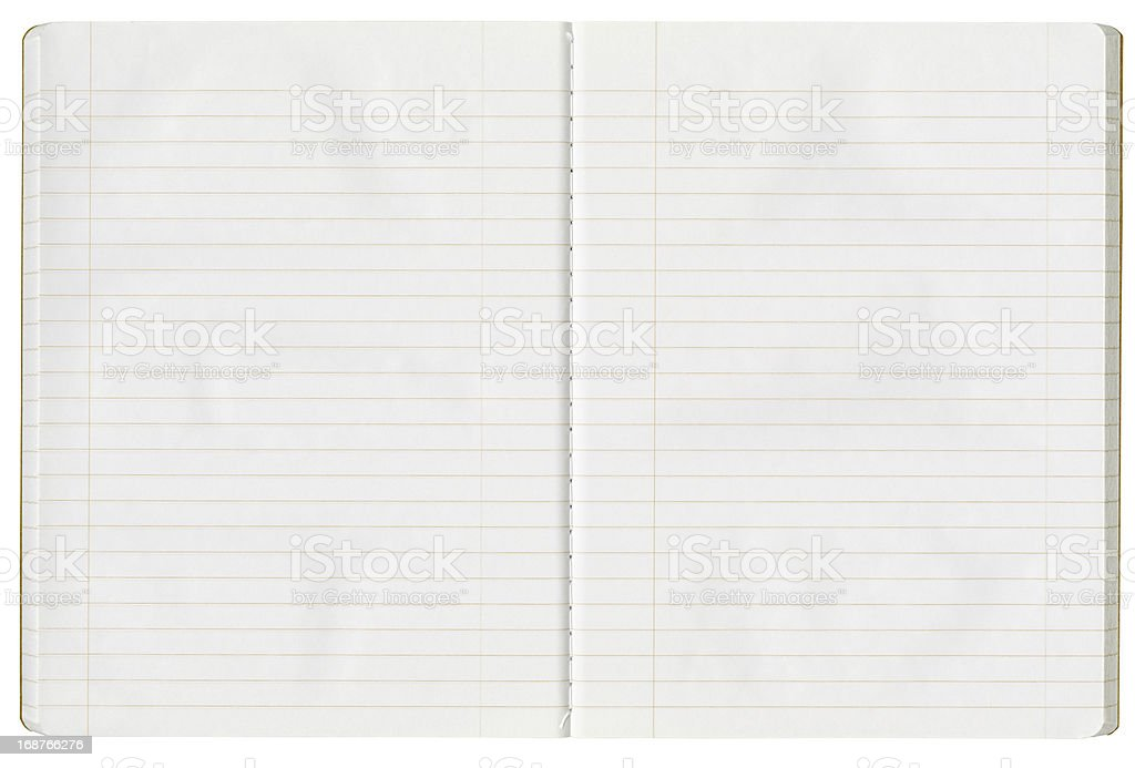 High Resolution Open Composition Book Made of Recycled Paper royalty-free stock photo