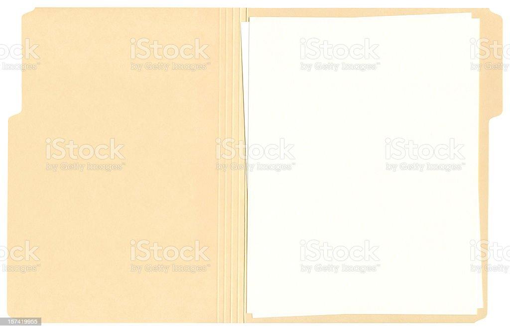 Abrir carpeta de archivos de alta resolución - foto de stock