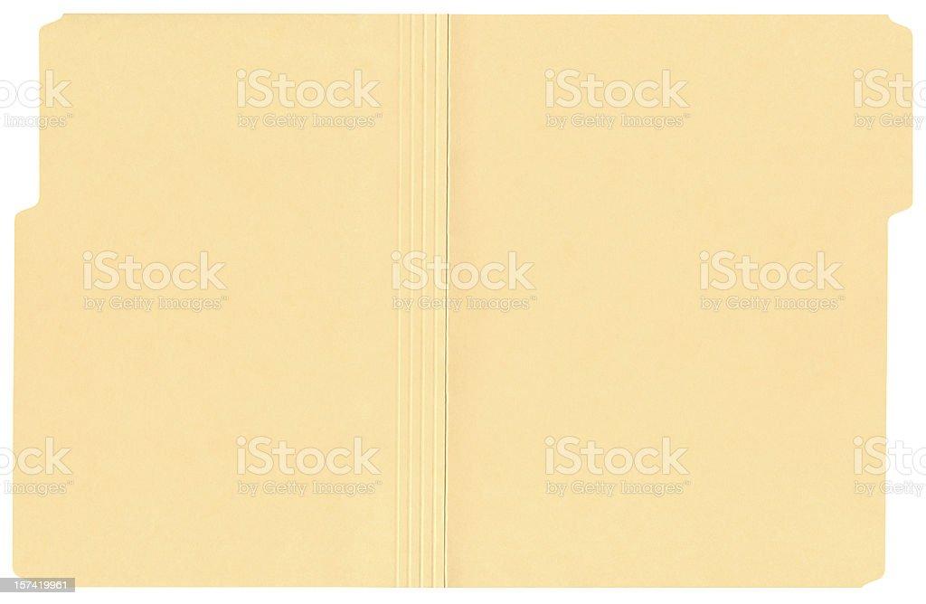High Resolution Open File Folder stock photo