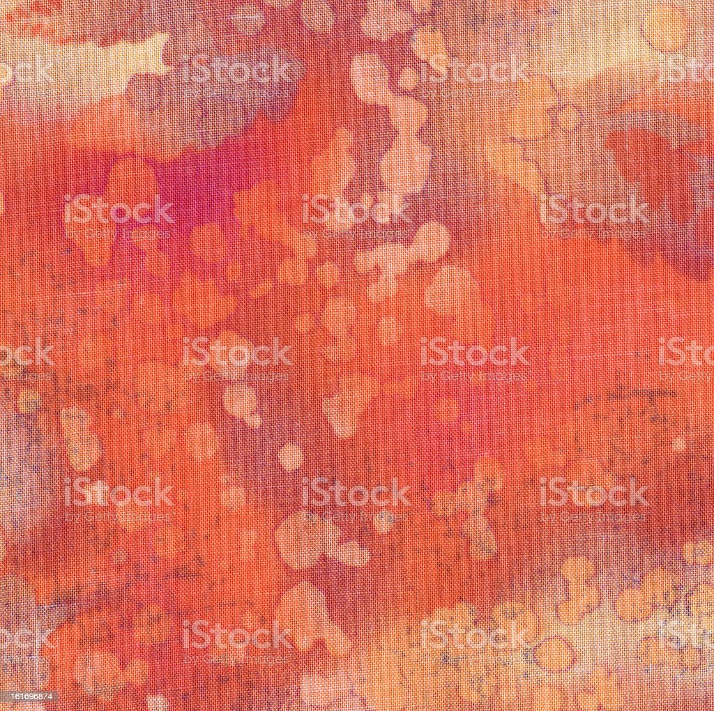 High Resolution Orange and Fuschia Fabric with Spots Bright Background royalty-free stock photo