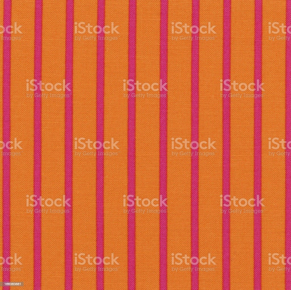 High Resolution Orange Fabric Pink Vertical Stripes Texture and Background royalty-free stock photo