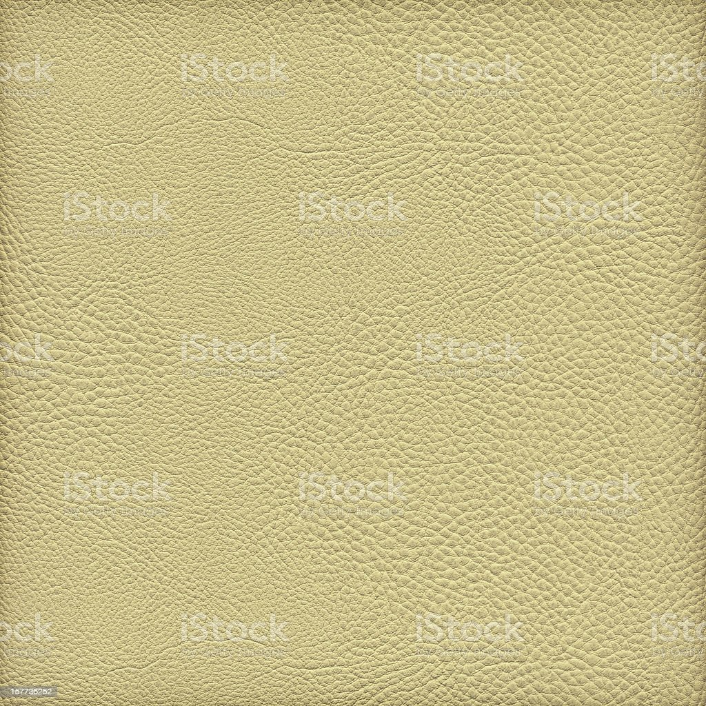 High Resolution Pale Yellow Pleather Crumpled Vignette Grunge Texture stock photo