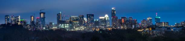 High Resolution Panorama of Austin Skyline stock photo