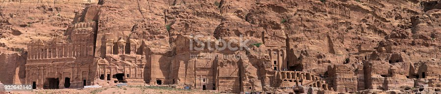 istock High resolution panorama of the rock city of Petra, Wadi Musa, Jordan, composed of several photos, 932642140