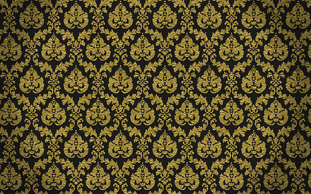 High Resolution Patterned Wallpaper  wallpaper sample stock pictures, royalty-free photos & images